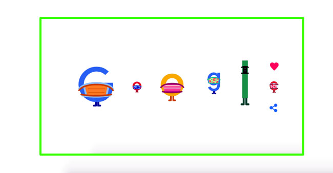 Animated Google Doodle Promotes Importance Of Face Masks and Social Distancing; Says Wear A Mask, Save Lives