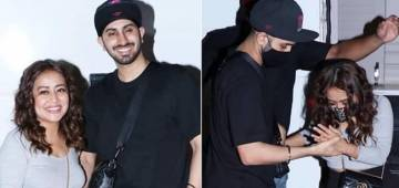 Rohanpreet Singh Lovingly Holds Wifey Neha's Hands To Help Her Out Of Vanity Van; Leave Fans Gushing