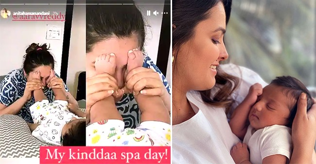 Anita Hassanandani's Son Aaravv Turns 2 Months Old; Mommy Shares Pics Revealing Her Version Of Spa