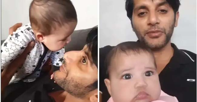 Karanvir Bohra Sends Out Important Note For All The Dads As His Daughter Pukes On His Face