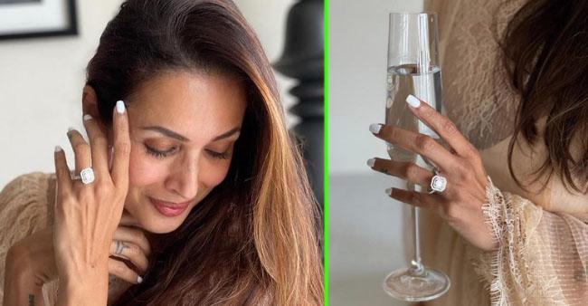 Malaika Arora Flaunts An Enormous Engagement Ring; Netizens Tag Beau Arjun Kapoor