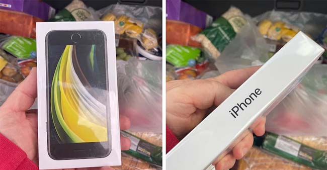 Man orders apple from grocery shop but gets iPhone SE instead