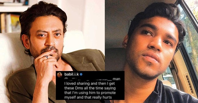 Babil discloses he stopped sharing Irrfan's memories as some thought it was for promotion
