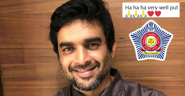 R Madhavan Hits Like Button and Comments On Mumbai Police's Tweet; Gets Savage Reply From Them