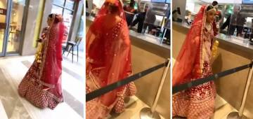 Bride Satisfies Her Food Craving By Choosing Burger Over Baaraat Before Getting Married
