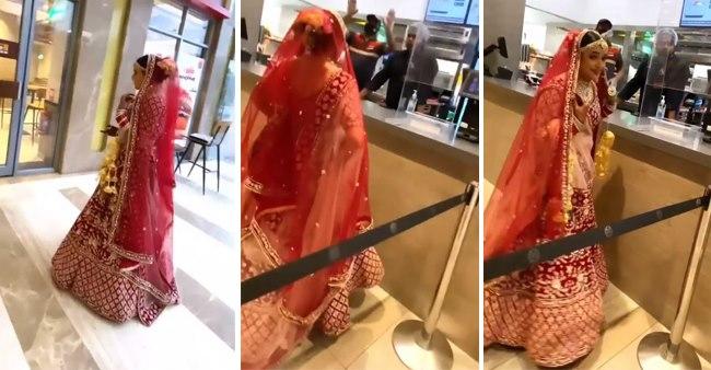 Bride Satisfies Her Food Craving By Choosing Burger Over Baaraat Before Getting Married