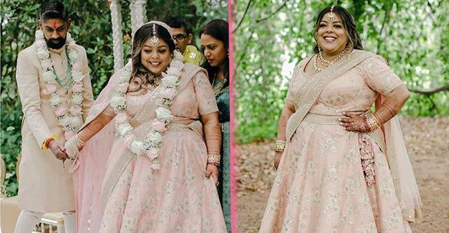 Plus-Size Bride Chose Pastel Pink Sabyasachi Lehenga & Proved That Anyone Can Look Beautiful