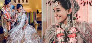 This Mumbai Bride Chose Simple Yet Gorgeous White Color Lehenga By Sabyasachi