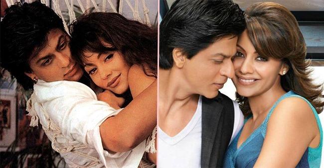 Unseen Pic Of SRK-Gauri As She Flaunts Her Newbie Bride's Look In Red Saree, Mangalsutra & Chooda