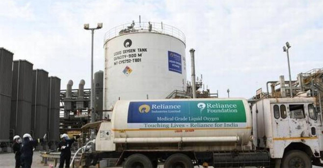 RIL becomes largest producer of liquid medical oxygen; producing 1,000 metric tons per day