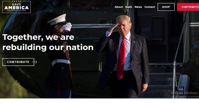 Donald Trump lance son propre blog avec le logo `` Save America ''