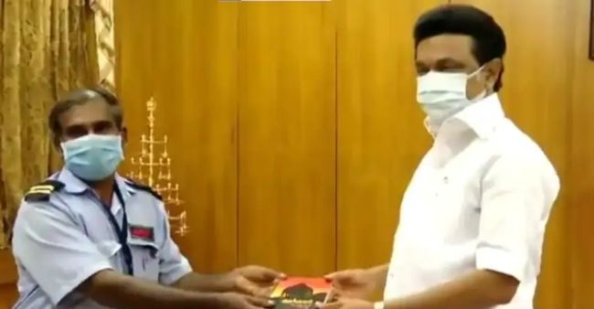 A watchman in Tamil Nadu donates one month salary to CM relief fund: CM invites him to his office