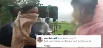 Viral: Odisha Man's quirky reply to reporter's question, 'Why you stepped out of house amid storm?' leaves netizens in splits