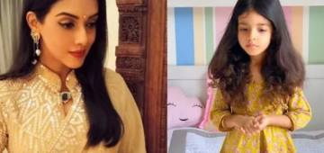 Erstwhile actress Asin Thottumkal shares an adorable picture of her 3-year-old daughter practising kathak. Watch here