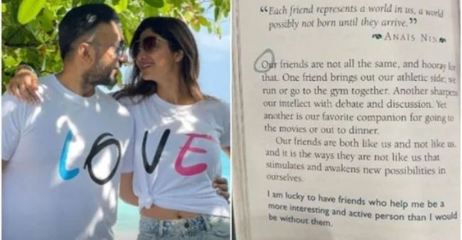 Shilpa Shetty posts a picture of a book page; seems that the lines written are relatable to her
