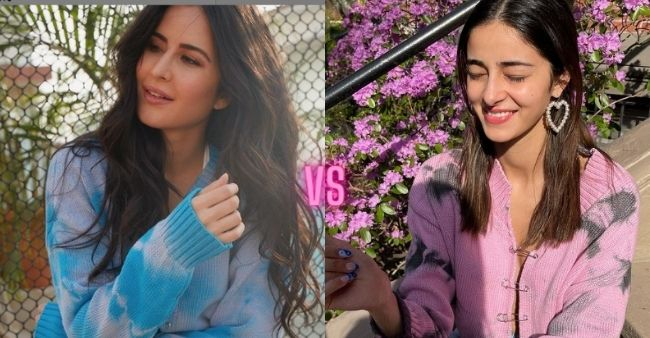 Katrina Kaif or Ananya Pandey, Who adorned the tie and dye sweater trend better?
