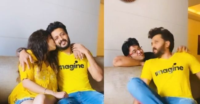 Riteish Deshmukh and Genelia D'Souza bring another hilarious reel for fans