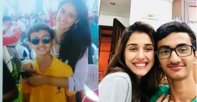 Disha Patani posts a throwback photo from her teen days as she wishes her younger brother on his birthday