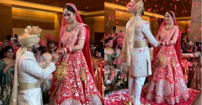 Rahul Vaidya goes down on one knee at his ring ceremony with ladylove Disha Parmar